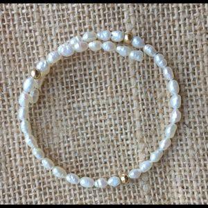 Vintage 14k pearl bracelet